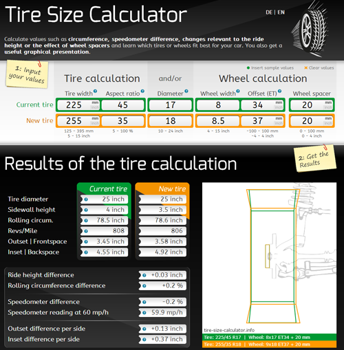 Compare Tire Sizes >> Tire Size Calculator Info Compare Tires And Wheels Graphical